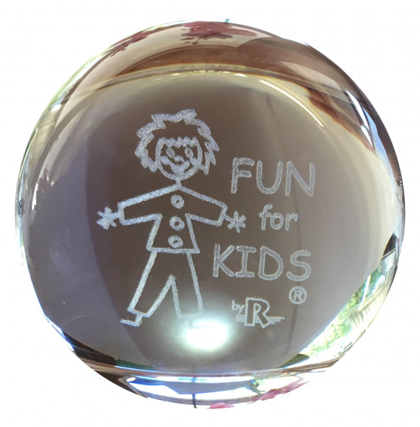 Fun for Kids Glas Ball mit 3D Gravur / 3D engraved